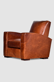 Prescott armchair in Echo Cognac brown leather