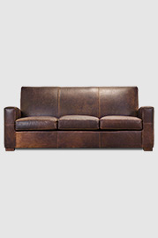 Prescott sofa in Berkshire Bourbon brown leather