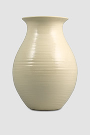 Flared-Lip Large Vase, Cream