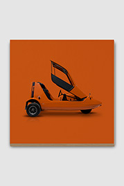 Bond Bug Microcar Plywood Print