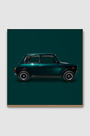 Mini Cooper Microcar Plywood Print