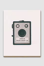 Ansco Shur-Shot Jr. Antique Camera Plywood Print
