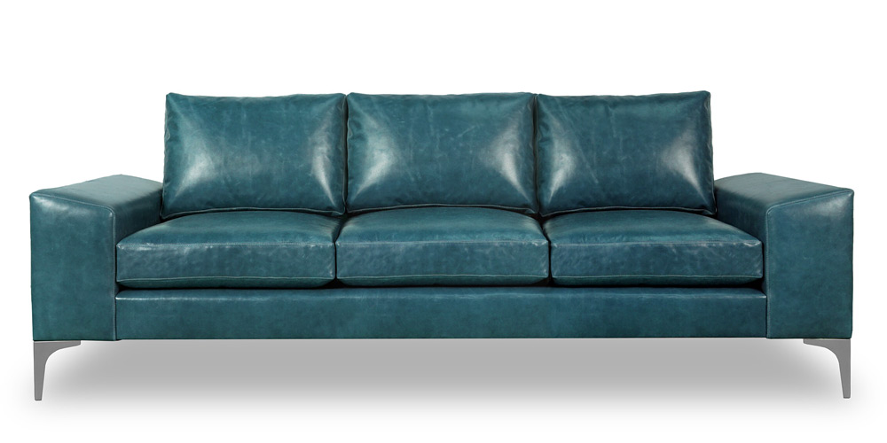 Cricket. Contemporary Slant Arm Sofa