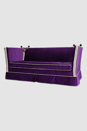 Kent Knole sleeper sofa in purple velvet