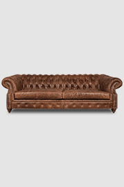 Cecil sofa in brown leather