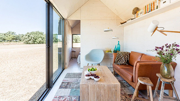 Interior of the tiny home APH80 Transportable House