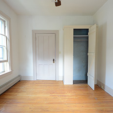 Before: A charming closet but little else of interest.