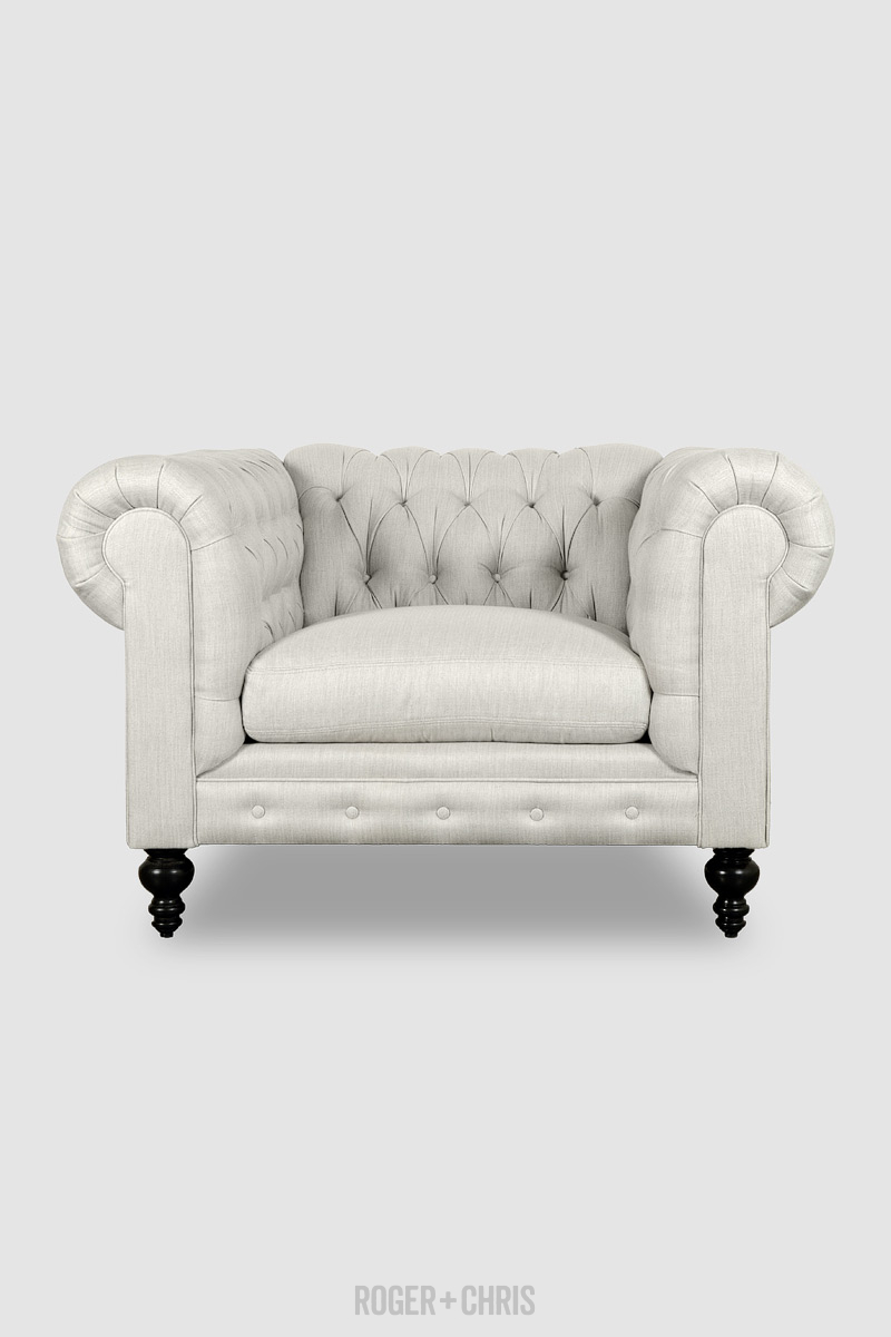 Chesterfield Sofas, Armchairs, Sectionals, Sleepers | Leather, Fabric, Linen | Made in USA | Higgins