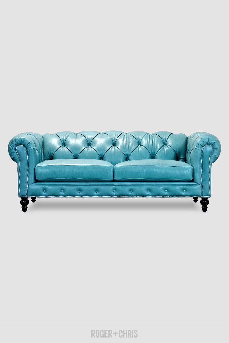 Higgins Chesterfield Sofa In Special Order Brighton