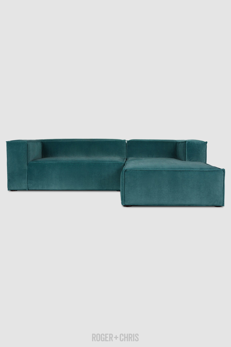 Astounding Johnny Reverse Stitch Sofa Chaise Sectional In Como Gmtry Best Dining Table And Chair Ideas Images Gmtryco
