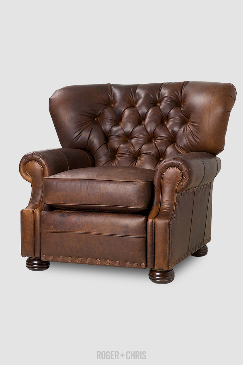 Eugene recliner in Berkshire & Eugene Tufted Wingback Recliners | ROGER + CHRIS islam-shia.org