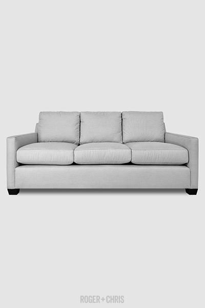 Palmer Sofa In Sailcloth Seagull Stain Proof Grey Fabric