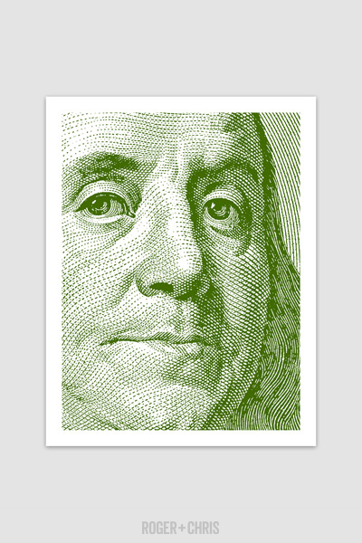 quot currency franklin quot print roger chris