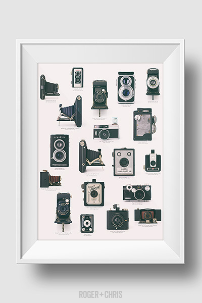 Vintage camera collection print, 22