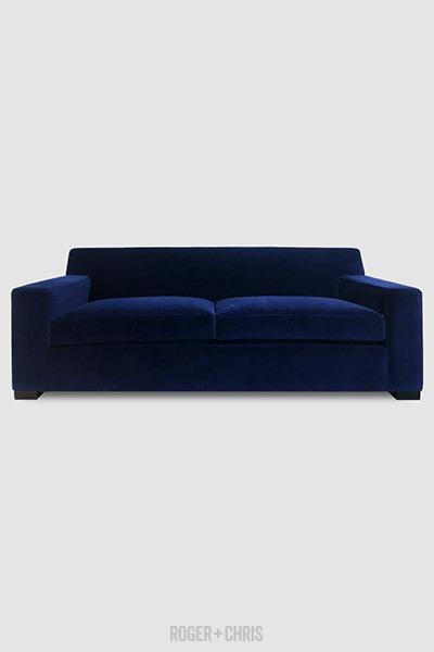 Bobby Sofa In Como Indigo Blue Velvet