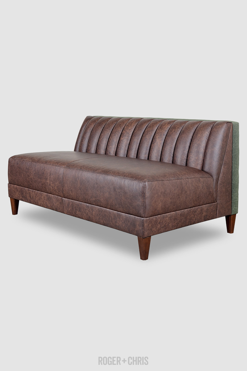 Leather Armless Sofa Leather Armless Sofa Thesofa