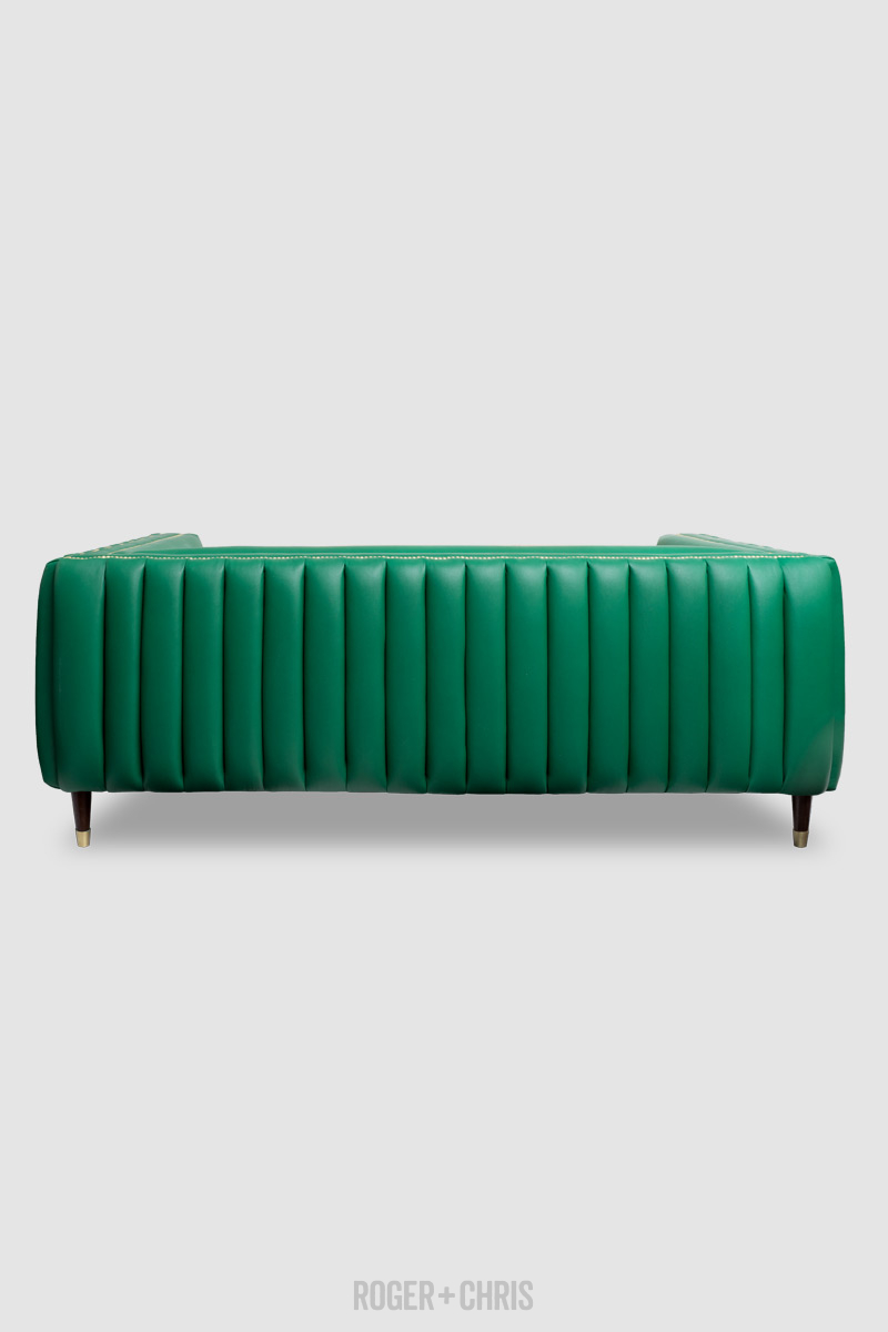 Electra Exterior Channel-Tufted Mid-Century Modern Sofa
