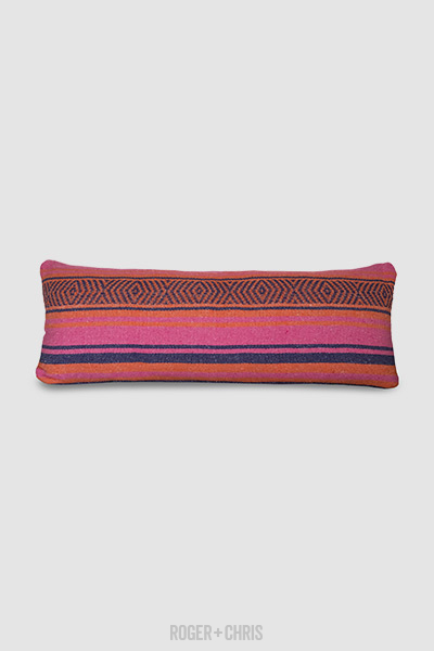 Giant Blanket Bolster in Vera Cruz orange/purple/pink pattern