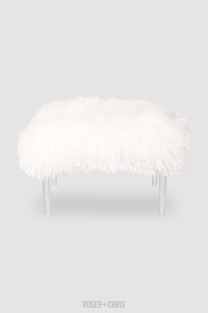 Lamb Chop Fluffy Glam Piano Bench